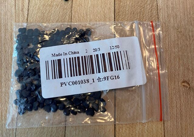 Unsolicited seeds that arrived in the mail, reported by a U.S. citizen to the U.S. Department of Agriculture's Animal and Plant Health Inspection Service are seen in an undated photo