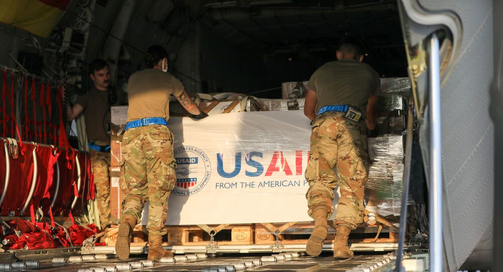 U.S. Army and Air Force service members assisted USAID with the transportation of nearly 12,000 pounds of medical kits from the Netherlands, through Germany and on to Lebanon.