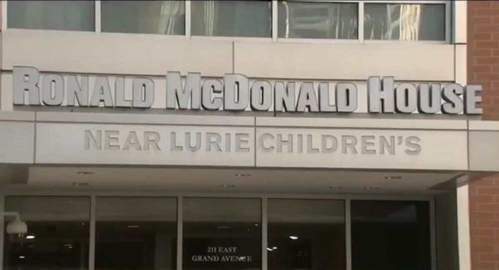 Chicago looters target Ronald McDonald House near Lurie Children's Hospital in Chicago's Streeterville neighborhood with the families of young sick children inside on Monday 10 August 2020.