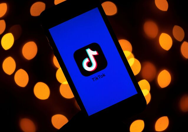 (FILES) This file photo taken on November 21, 2019 shows the logo of the social media video sharing app Tiktok displayed on a tablet screen in Paris