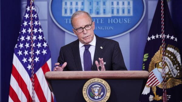 White House economic advisor Larry Kudlow addresses a press briefing on the U.S. economy and new U.S. employment and unemployment numbers in the Brady Press Briefing Room at the White House in Washington, U.S., July 2, 2020.  - Sputnik International