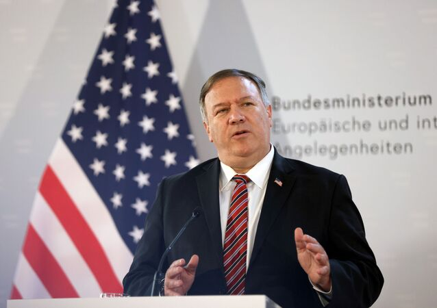 U.S. Secretary of State Mike Pompeo holds a joint news conference with Austrian Foreign Minister Alexander Schallenberg in Vienna, Austria, August 14, 2020