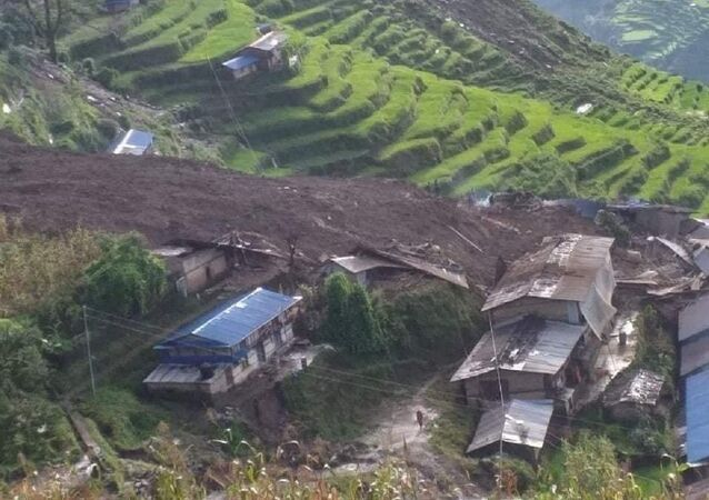 The landslide occurred again in the Sindhupalchowk district, Nepal
