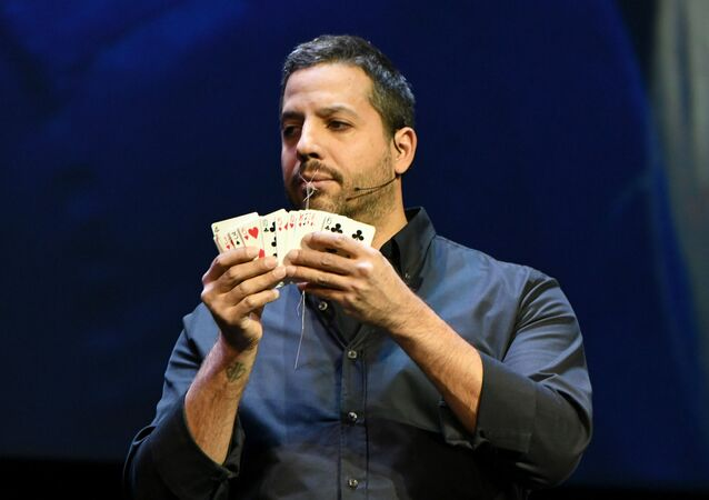 NEW YORK, NY - OCTOBER 24: Magician & Endurance Artist David Blaine performs onstage during the Onward18 Conference - Day 2 on October 24, 2018 in New York City