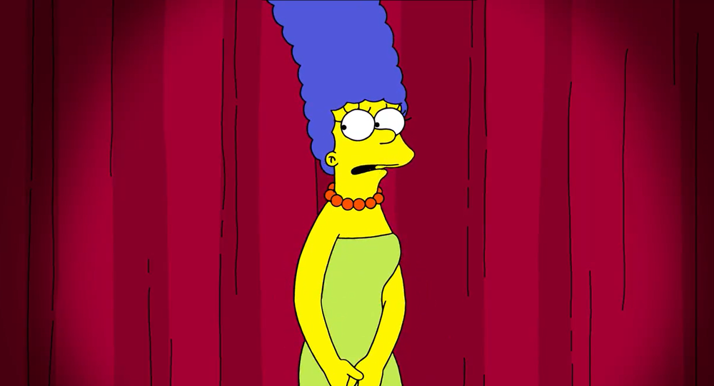 Screenshot of the video of The Simpsons' Marge Simpson responding to Trump's campaign adviser Jenna Ellis