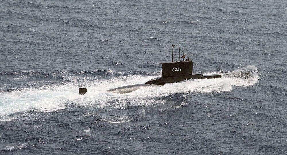 Starboard view of TCG Batıray, a Turkish Type 2019 submarine.