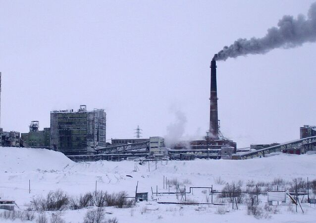 A handout photo provided on February 11, 2013 by the Russian Emergencies Ministry shows a general view of 'Vorkutinskaya'  coal mine in the remote Russian Far North town of Vorkuta within the Arctic Circle.