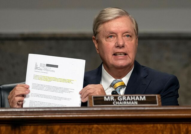 Senator Lindsey Graham (R-SC) speaks during a Senate Judiciary Committee oversight hearing on the Crossfire Hurricane investigation, on Capitol Hill, in Washington, U.S., August 5, 2020