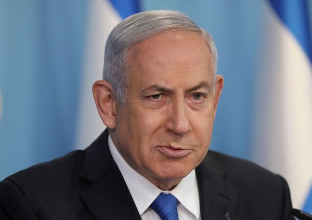 Israeli Prime Minister Benjamin Netanyahu announces a peace agreement to establish diplomatic ties, between Israel and the United Arab Emirates, during a news conference at the prime minster office in Jerusalem, August 13, 2020.