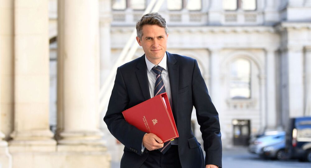 FILE PHOTO: Britain's Secretary of State for Education Gavin Williamson arrives at the Foreign and Commonwealth Office (FCO), ahead of a cabinet meeting to be held at the FCO, for the first time since the COVID-19 lockdown in London, Britain July 21, 2020.