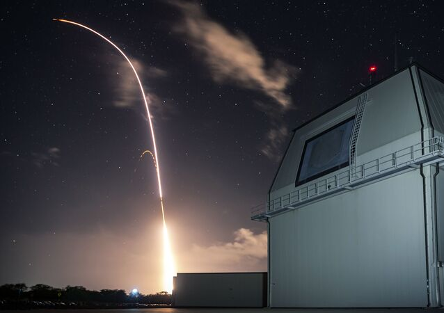 This Monday, Dec. 10, 2018, file photo provided by the U.S. Missile Defense Agency (MDA) shows the launch of the U.S. military's land-based Aegis missile defense testing system, that later intercepted an intermediate range ballistic missile, from the Pacific Missile Range Facility on the island of Kauai in Hawaii.