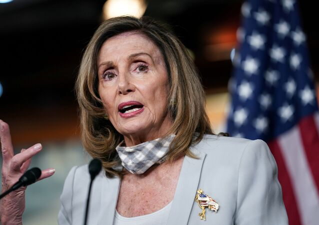 U.S. House Speaker NancyPelosi(D-CA) speaks about stalled congressional talks with the Trump administration on the latest coronavirus relief during her weekly news conference on Capitol Hill in Washington, U.S., August 13, 2020.