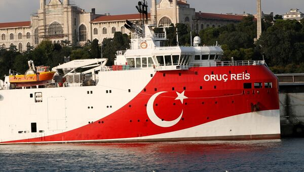 Turkish seismic research vessel Oruc Reis is seen in Istanbul, Turkey, August 22, 2019. Picture taken August 22, 2019 - Sputnik International