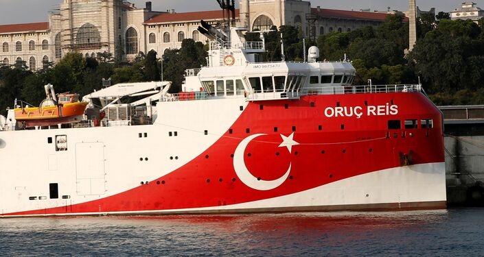 Turkish seismic research vessel Oruc Reis is seen in Istanbul, Turkey, August 22, 2019. Picture taken August 22, 2019