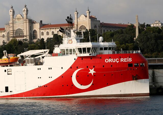 Turkish seismic research vessel Oruc Reis is seen in Istanbul, Turkey, August 22, 2019. Picture taken August 22, 2019