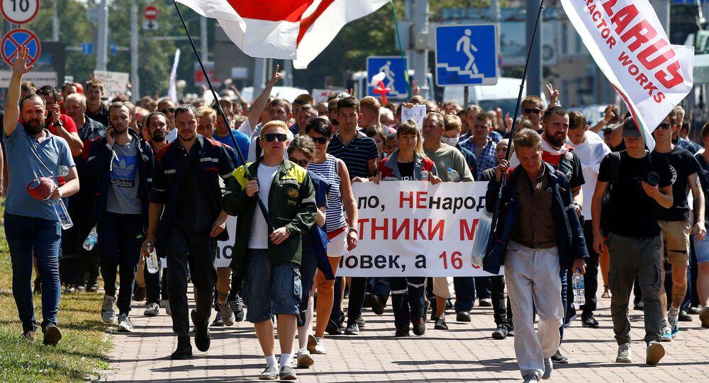 Opposition demonstration in Minsk