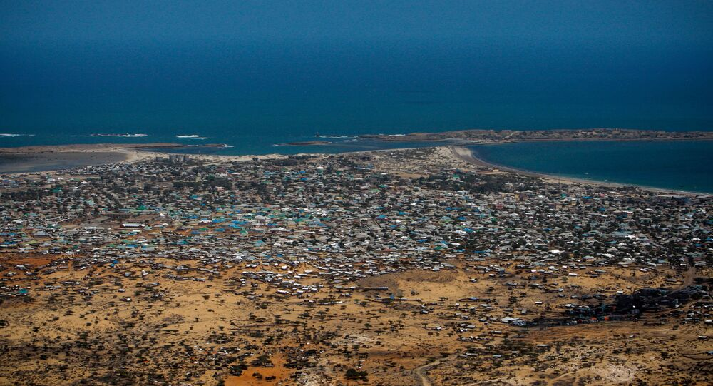 Aerial views of Kismayo