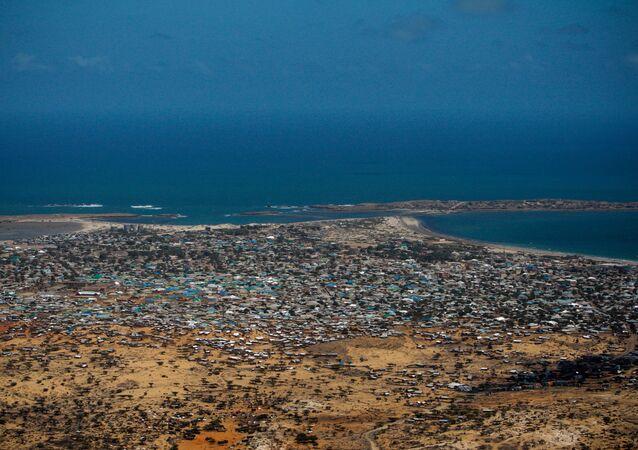Aerial views of Kismayo