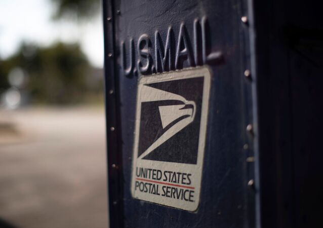 A United States Postal Service (USPS) mailbox is pictured in Pasadena, California, U.S., August 17, 2020