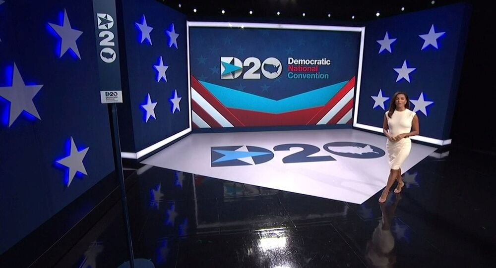 Actress Eva Longoria introduces the start of the 2020 Democratic National Convention in a frame grab from live video at the start of the all virtual convention as participants from across the country are hosted over video links from the originally planned site of the convention in Milwaukee, Wisconsin, U.S. August 17, 2020