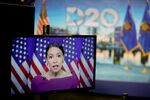Alexandria Ocasio-Cortez (D-NY) addresses the second night of the virtual 2020 Democratic National Convention