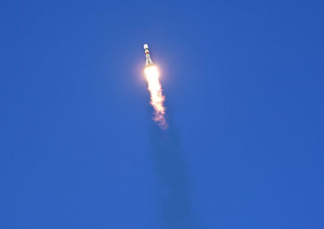 Launch of Soyuz rocket carrier
