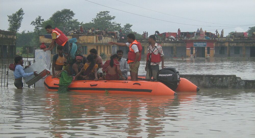 NDRF Rescue Operation during Kosi Flood Bihar