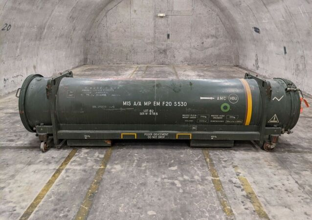 Photo captures the live, but unarmed missile discovered August 14 at Florida's Lakeland Linder International Airport. The munition prompted a portion of the airport to shutter for a period of roughly four hours while emergency responders worked to safely relocate the projectile to a storage facility.