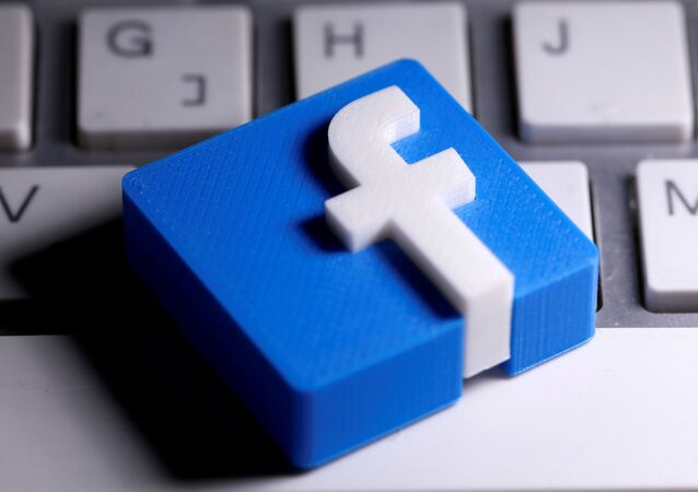 A 3D-printed Facebook logo