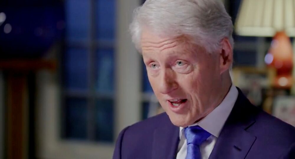 Former U.S. President Bill Clinton speaks by video feed during the virtual 2020 Democratic National Convention as participants from across the country are hosted over video links from the originally planned site of the convention in Milwaukee, Wisconsin, U.S. August 18, 2020