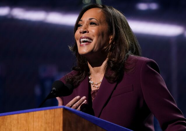U.S. Senator Kamala Harris (D-CA) accepts the Democratic vice presidential nomination during an acceptance speech delivered for the largely virtual 2020 Democratic National Convention from the Chase Center in Wilmington, Delaware, U.S., August 19, 2020