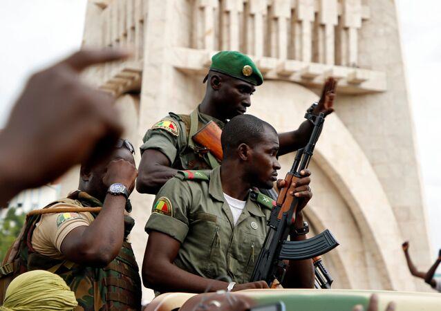 Malian army soldiers in Bamako, Mali