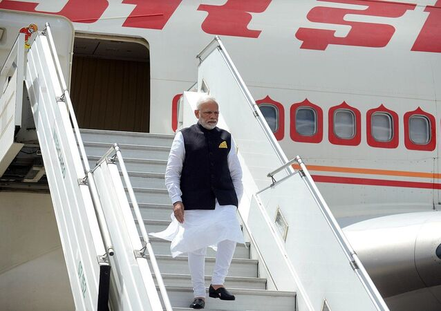 Arrival of Narendra Modi, Prime Minister of India