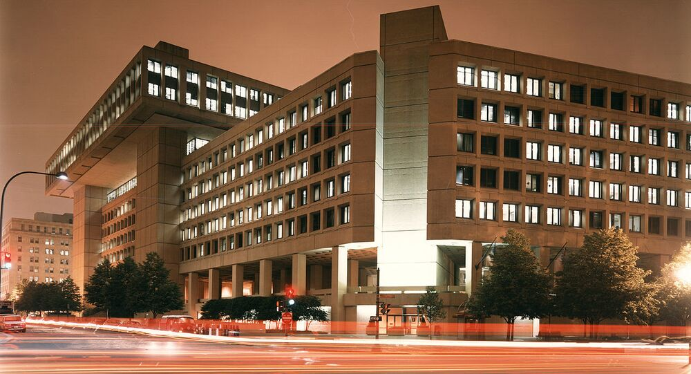FBI Headquarters at night