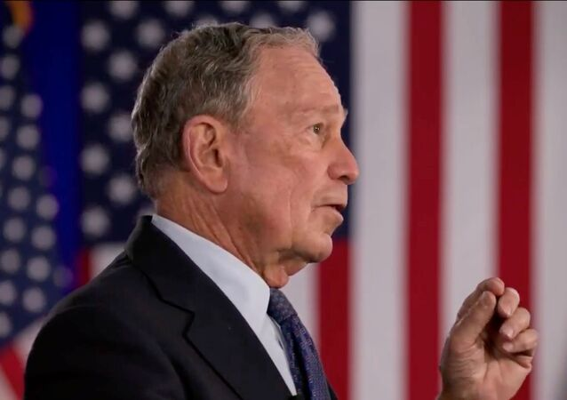 Former 2020 Democratic presidential candidate and former New York Mayor Michael Bloomberg speaks by video feed during the 4th and final night of the 2020 Democratic National Convention, as participants from across the country are hosted over video links from the originally planned site of the convention in Milwaukee, Wisconsin, U.S. August 20, 2020
