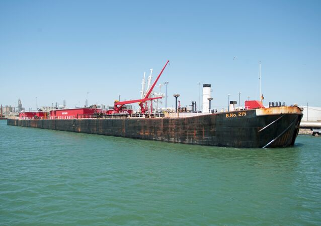 Seagoing Barge at the Port of Corpus Christi