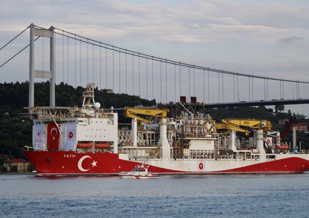 Turkey's drilling vessel Fatih in Istanbul