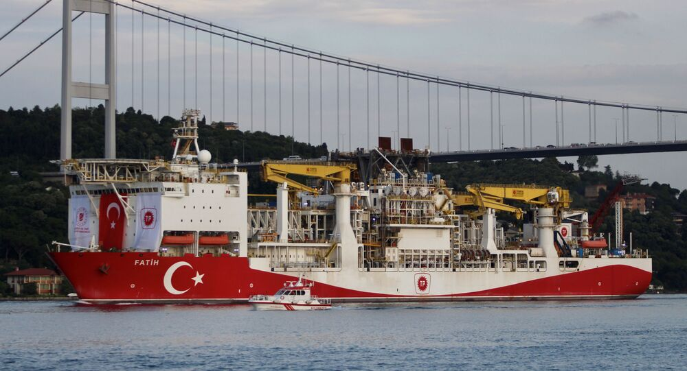 Turkey's drilling vessel Fatih in Istanbul