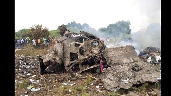 Alleged site of the plane crash near Juba, South Sudan. - Sputnik International
