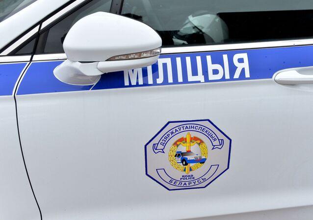 Police car in Minsk