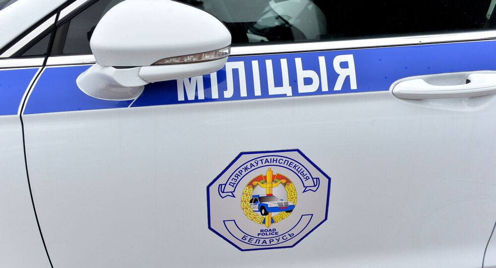 Police car in Minsk