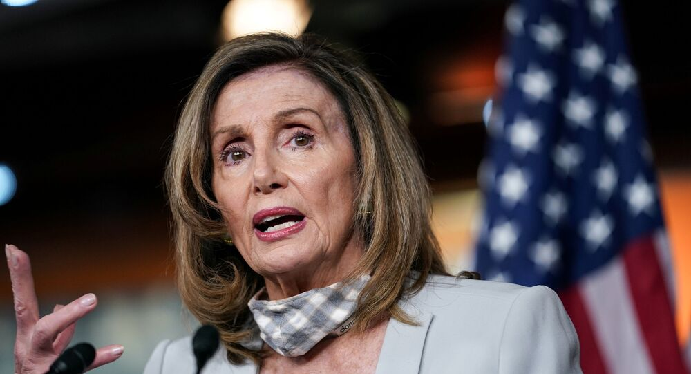 U.S. House Speaker NancyPelosi(D-CA) speaks about stalled congressional talks with the Trump administration on the latest coronavirus relief during her weekly news conference on Capitol Hill in Washington, U.S., August 13, 2020