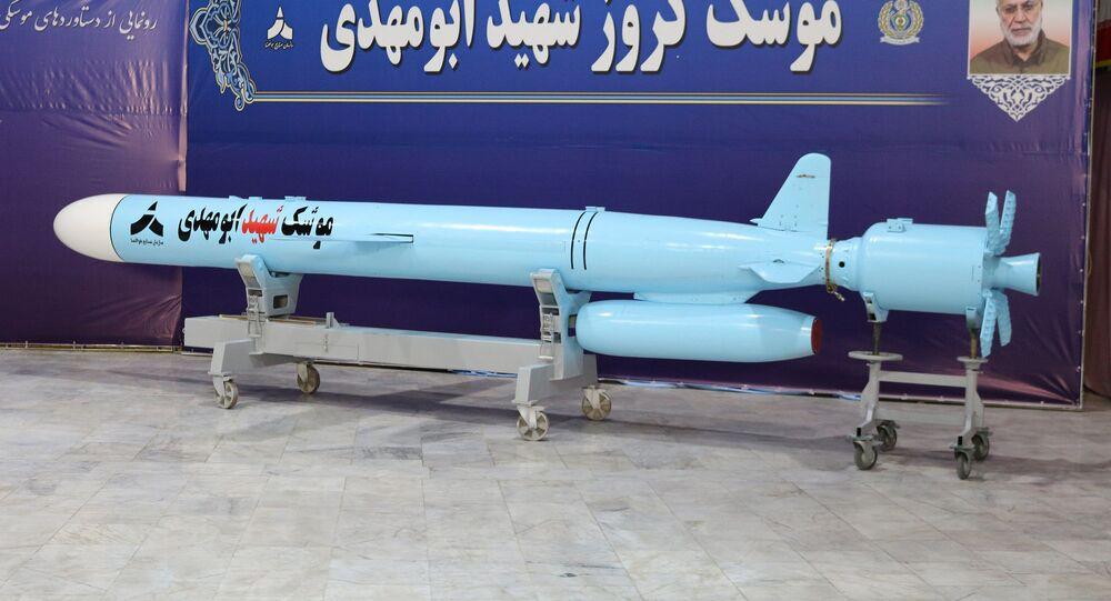 The Iranian-made 'Abu Mahdi' cruise missile. File photo