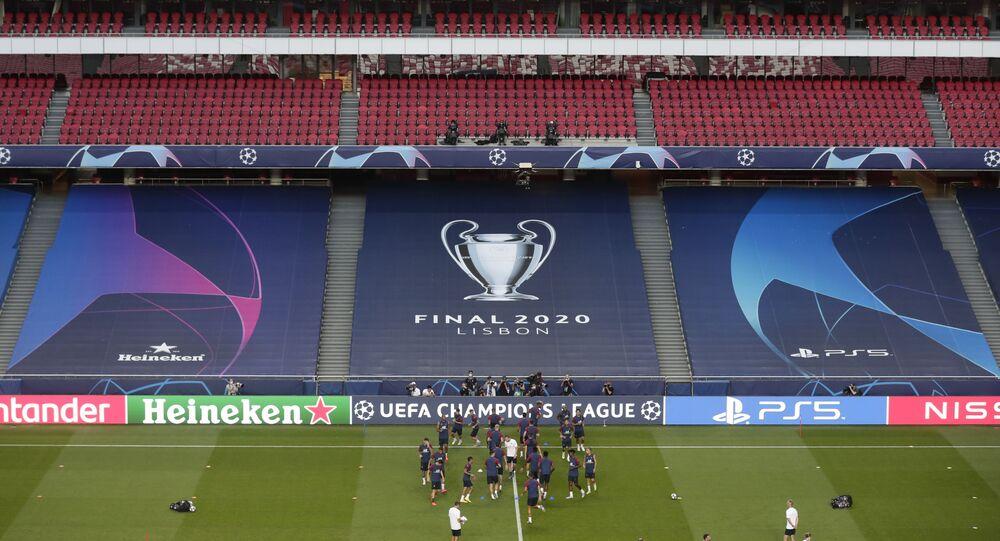 Bayern Munich Vs Psg Teams Fans Arrive At Lisbon Stadium Ahead Of Champions League Final Video Sputnik International