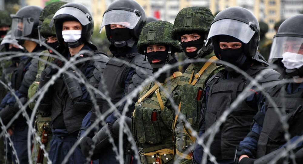 Law enforcement officers in Minsk