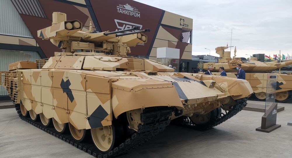 Tank at Army-2020 Forum in Moscow