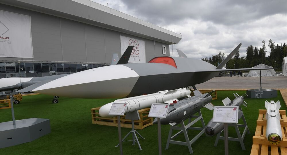 Grom drone at the ARMY-2020 expo outside Moscow.