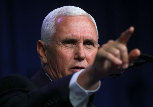 U.S. Vice President Mike Pence gestures as he speaks at the Republican National Convention, in Charlotte, North Carolina, U.S., August 24, 2020.