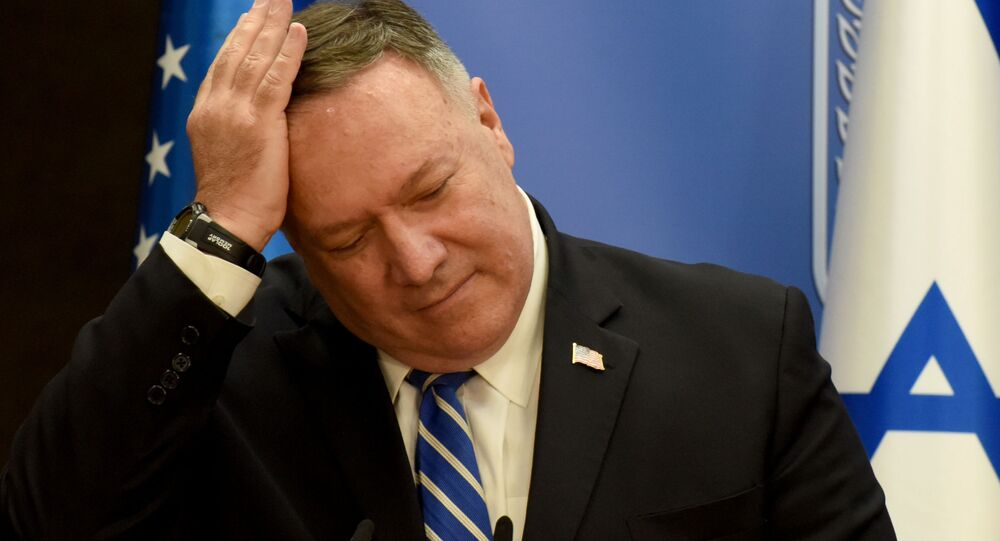 U.S. Secretary of State Mike Pompeo and Israeli Prime Minister Benjamin Netanyahu (not pictured) make joint statements during a news conference after a meeting in Jerusalem, August 24, 2020.