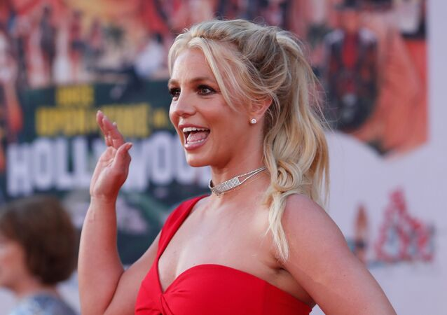 Britney Spears poses at the premiere of Once Upon a Time In Hollywood in Los Angeles, California, U.S., July 22, 2019